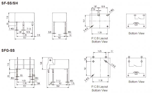 16a rel u00e9 s v u00fd u0161kou pouze 11mm  pro kapacitn u00ed z u00e1t u011b u017ee s